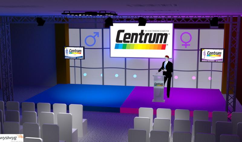 wizualizacja sceny event Centrum