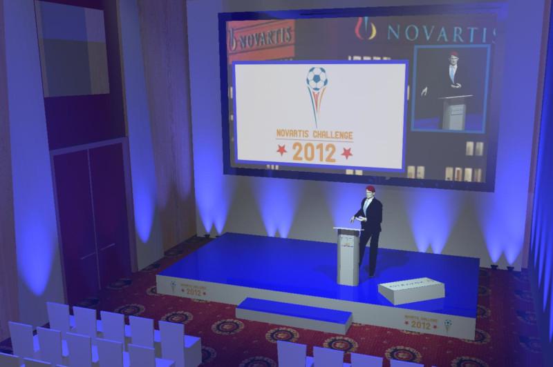 wizualizacja sceny - event Novartis